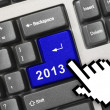 Computer keyboard with 2013 key — Stock Photo