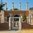 Ruins of st. Johns Basilica at Selcuk Ephesus Turkey - Stock Photo