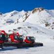 Stock Photo: Snowplow at Mountains ski resort Bad Hofgastein Austria