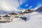 Mountain ski resort obergurgl rakousko — Stock fotografie