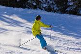 Skier at mountains ski resort Bad Gastein - Austria — Stockfoto