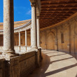 Royalty-Free Stock Photo: Central Courtyard in Alhambra palace at Granada Spain