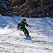 Skier at mountains ski resort Bad Gastein - Austria — Stock Photo