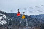 Teleférico en montañas de ski resort st. gilgen - austria — Foto de Stock