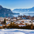 Mountains ski resort St. Gilgen Austria — Stock Photo