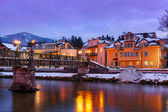 Spa resort bad ischl austria al atardecer — Foto de Stock