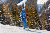 Skier at mountains ski resort Bad Gastein - Austria — Stock Photo