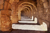 Galery at Aspendos in Antalya, Turkey — Stock Photo