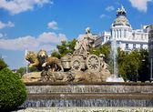 Fontaine de cibeles à madrid, espagne — Photo