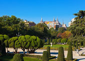 Park of the Pleasant Retreat in Madrid Spain — Stock Photo