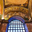 mosaic interior in chora church at istanbul turkey — Stock Photo