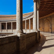 Central Courtyard in Alhambra palace at Granada Spain — Stock Photo #20246873