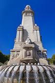 Monumento de cervantes en madrid españa — Foto de Stock