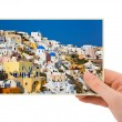 Greece photography in hand — 图库照片