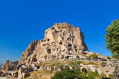 Uchisar Castle in Cappadocia Turkey — Stock Photo