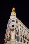 Madrid Spain at night — Stock Photo