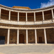 Central Courtyard in Alhambra palace at Granada Spain — Stock Photo #21785011