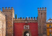 Gates to Real Alcazar Gardens in Seville Spain — Foto Stock