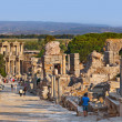 Foto Stock: Ancient ruins in Ephesus Turkey