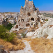 Cave city in Cappadocia Turkey - Stock Photo