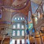 Blue mosque interior in Istanbul Turkey — Stock Photo #21855587