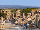 在土耳其以弗所古代遗址 — 图库照片