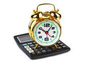 калькулятор и будильник — Стоковое фото
