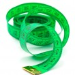 Green measuring tape — Stock Photo