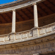 Central Courtyard in Alhambra palace at Granada Spain — Stock Photo