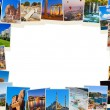 Frame made of Turkey travel images - Stock Photo