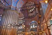 Blue mosque interior in Istanbul Turkey — Stock Photo