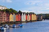 Cityscape of Trondheim, Norway — Stock Photo