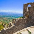 Stock Photo: Ruins of old town in Mystras, Greece