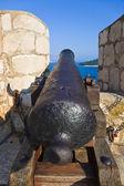 Retro cannon at Dubrovnik, Croatia — Stock Photo