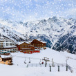 Mountains ski resort Solden Austria — Stockfoto