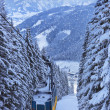 Mountains ski resort Zell-am-See Austria — Foto Stock