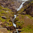 Stock Photo: Stigfossen waterfall and Troll's Path - Norway