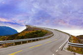 Fantastic bridge on the Atlantic road in Norway — Foto Stock