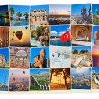 Stack of Turkey travel images — Stock Photo