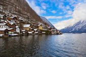 Village Hallstatt on the lake - Salzburg Austria — Stock Photo