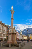 Our Lady statue at old town in Innsbruck Austria — Stock Photo