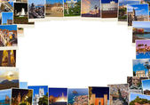 Frame made of Spain travel images (my photos) — Stock Photo