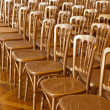 Rows of chairs — Stock Photo