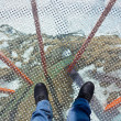 Glass floor - viewpoint at mountains — Stock Photo
