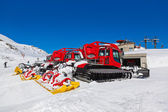 Machines for skiing slope preparations at Bad Hofgastein - Austr — Stock Photo