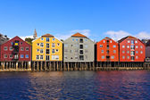 Cityscape of Trondheim, Norway — Stock Photo