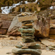 Tvinde Waterfall and stones stack - Norway — Stock Photo #31596377