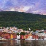 Famous Bryggen street in Bergen - Norway — Stock Photo #31982307