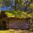 Old house near Briksdal glacier - Norway — Stock Photo