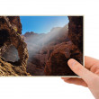 Tenerife Canary photography in hand — Stock Photo